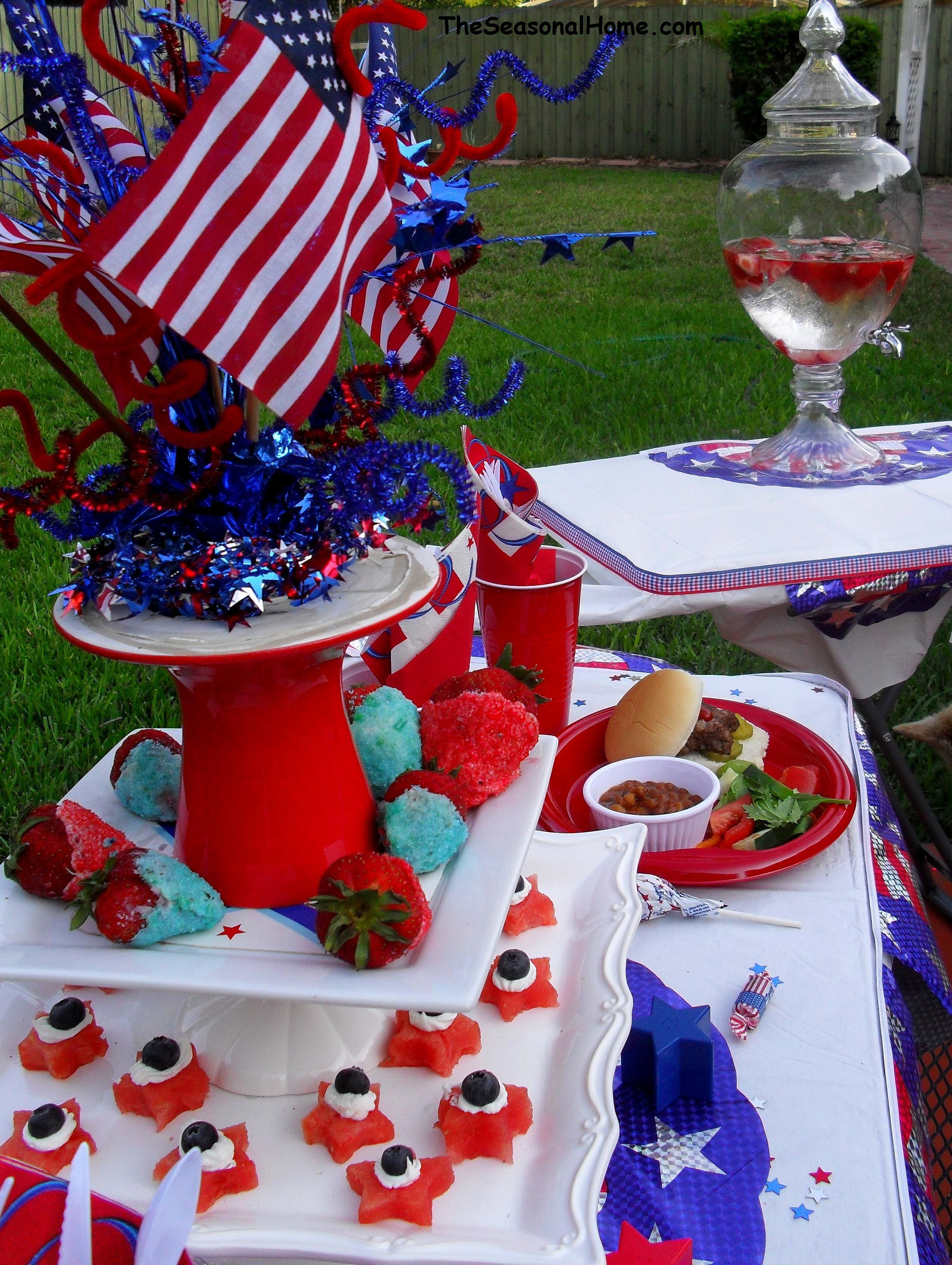 Table Decorations Food Ideas Fourth Of July Food Patriotic
