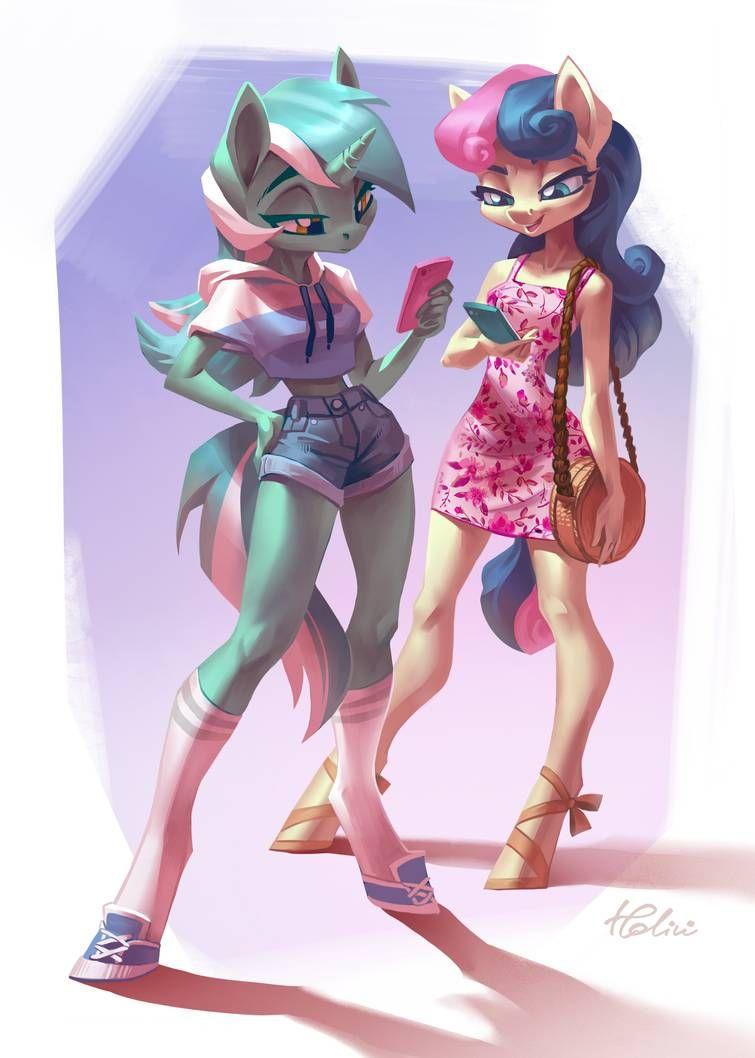 Lyra and Bonbon by Holivi on DeviantArt | My little pony comic, My little  pony drawing, Mlp my little pony