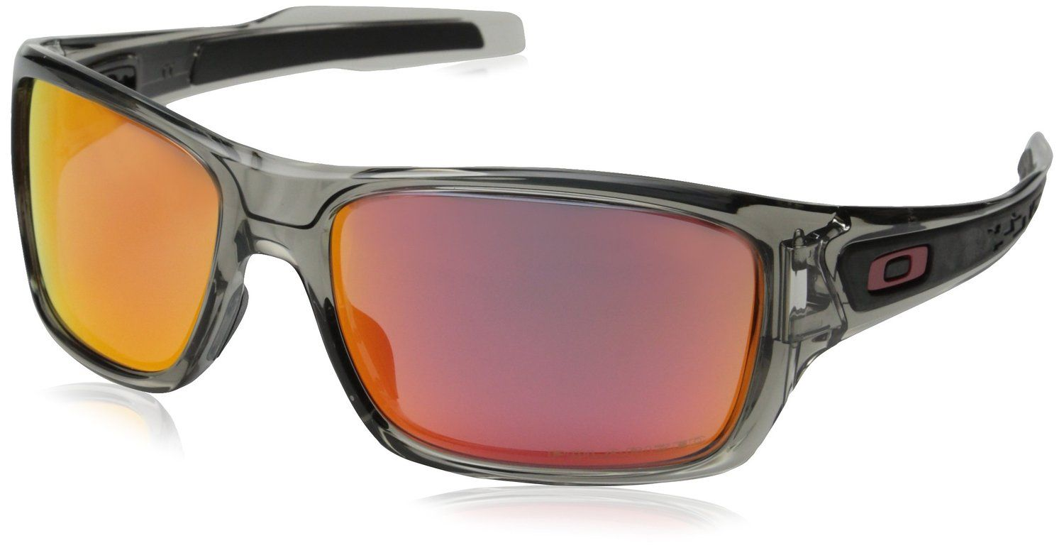 141dae7521f57 Oakley Men s Turbine OO9263-09 Polarized Iridium Rectangular  Sunglasses-Color grey ink