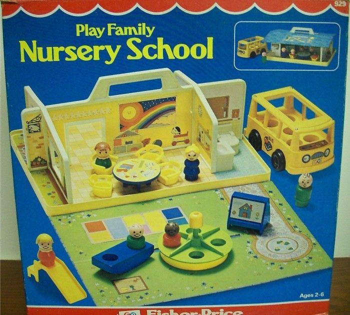Fisher Price: 1979 Play Family NURSERY SCHOOL #Vintage #Toys #vintagetoys