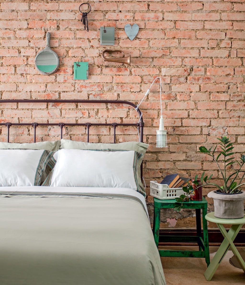 Cinco Propostas Charmosas De Cabeceiras Para O Quarto Bedrooms  ~ Parede De Tijolinho No Quarto E Modelos De Quarto Pequeno