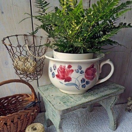 Romantique Nostalgique cache-pot pot de fleurs un Style Campagnard Shabby Chic Céramique