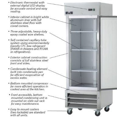 Amazon Com Arctic Air Ar23 23 Cu Ft One Section Reach In Refrigerator Appliances Refrigerator Sale Arctic Air Commercial Refrigerators