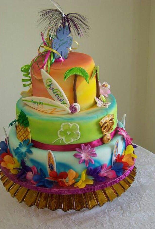 Luau Cake Cakes Cookies Cupcakes Pinterest Luau Cakes