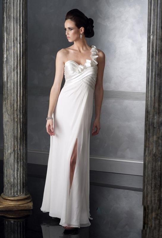 2020 Nisan Elbiseleri Beyaz Uzun Tek Askili Yirtmacli The Dress Aksamustu Giysileri Balo Elbiseleri