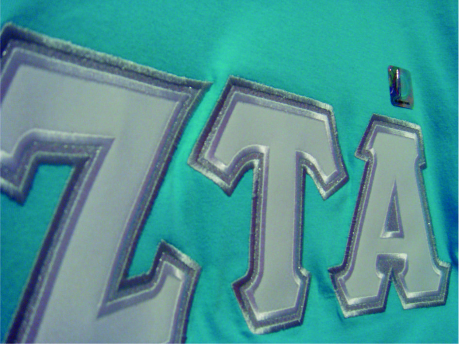zeta tau alpha w satin stitch