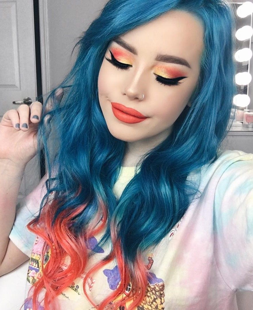 edgy hair color ideas to try right now hair dye aquamarines