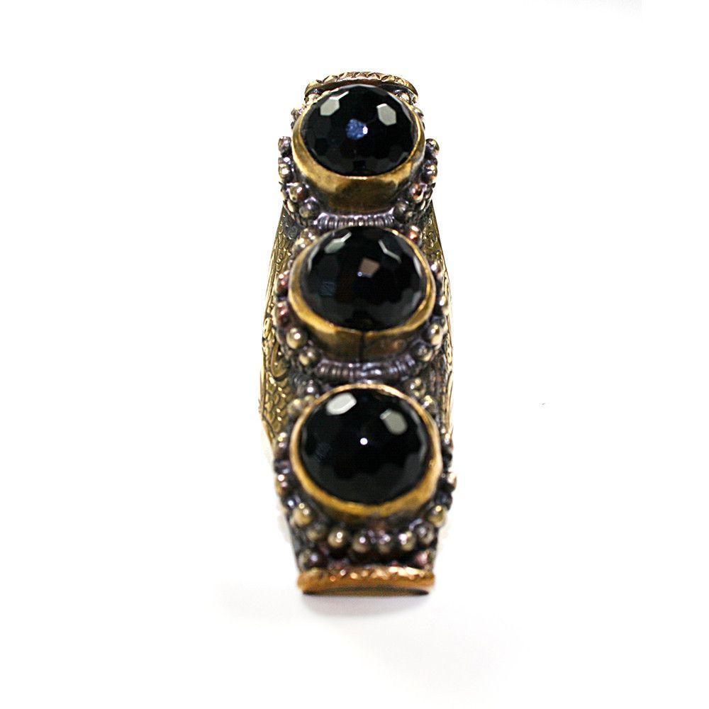 Black Onyx Triple Tibetan Ring | VidaKush