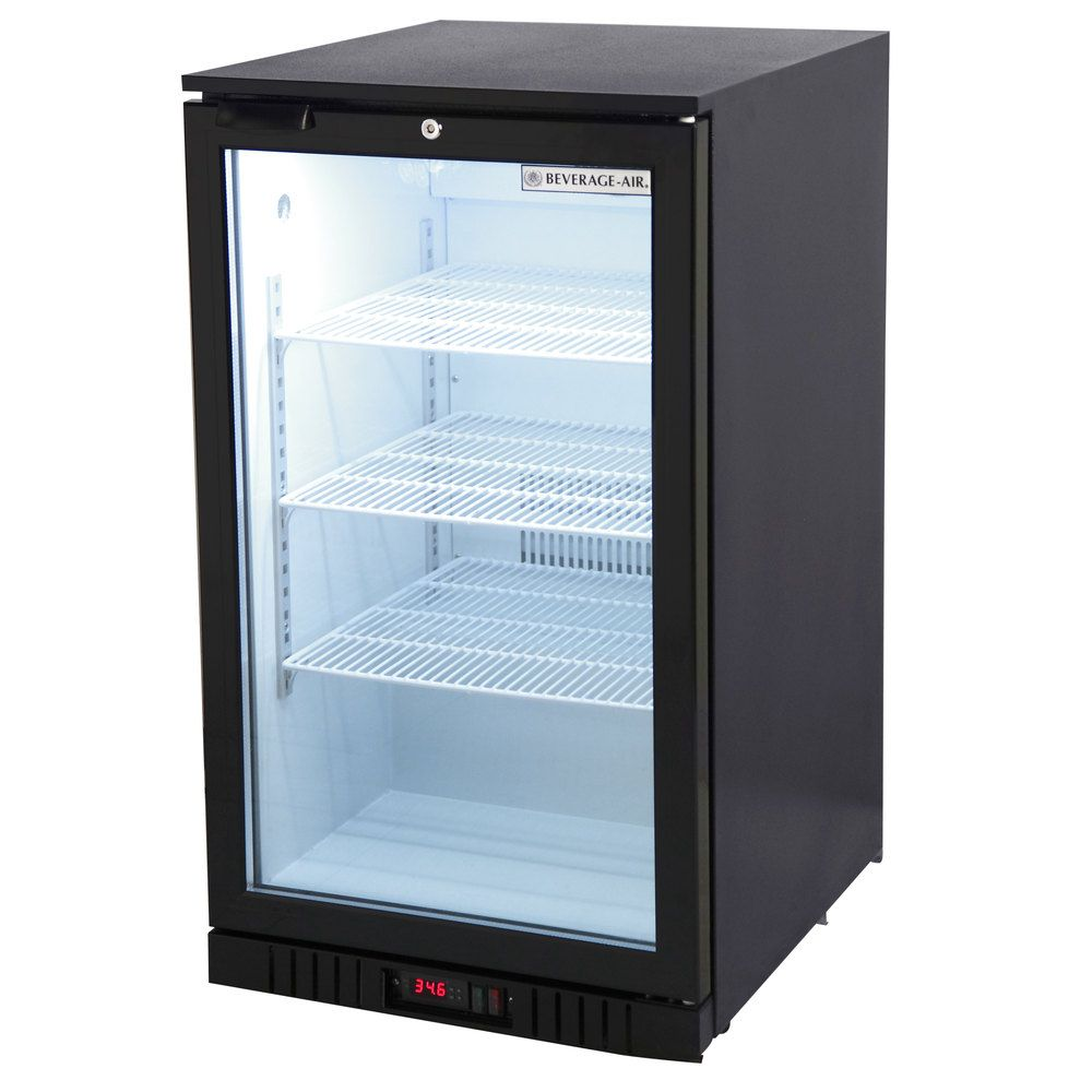 Beverage Air Ct96 1 B Led Black Countertop Display Refrigerator With Swing Door 6 8 Cu Ft Display Refrigerator Glass Door