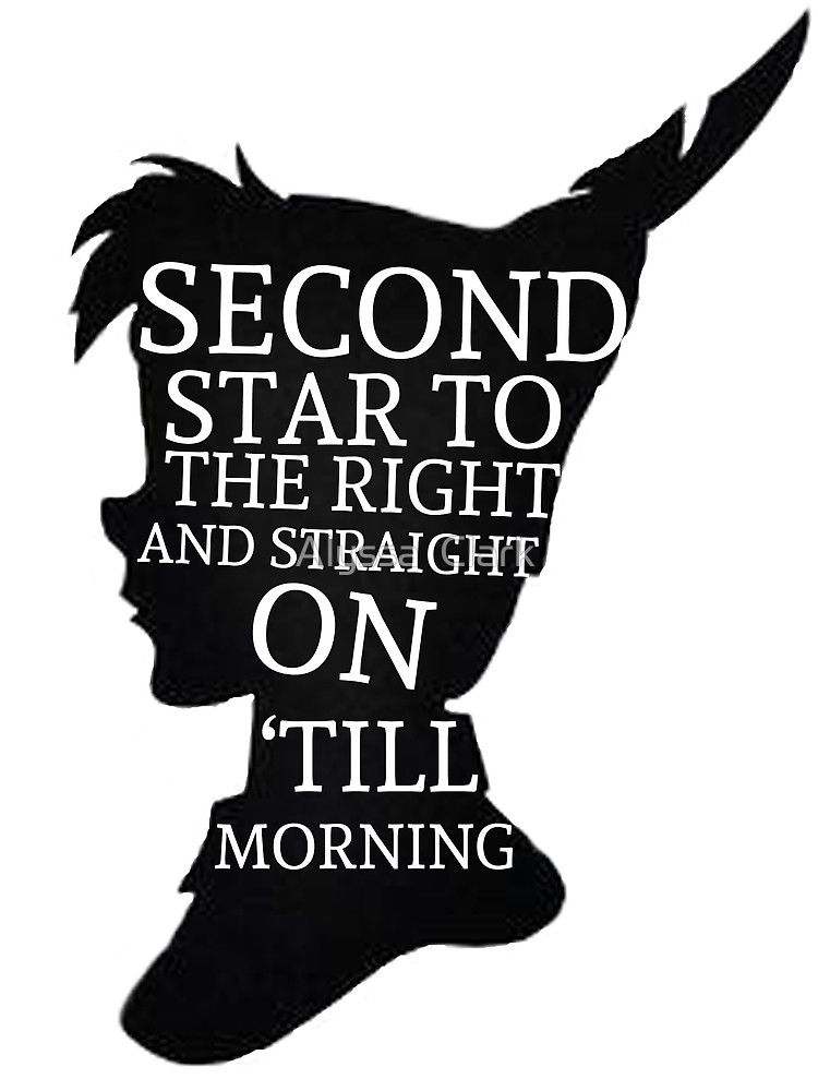 Peter Pan Quote Silhouette Second Star Quot By Alyssa Clark