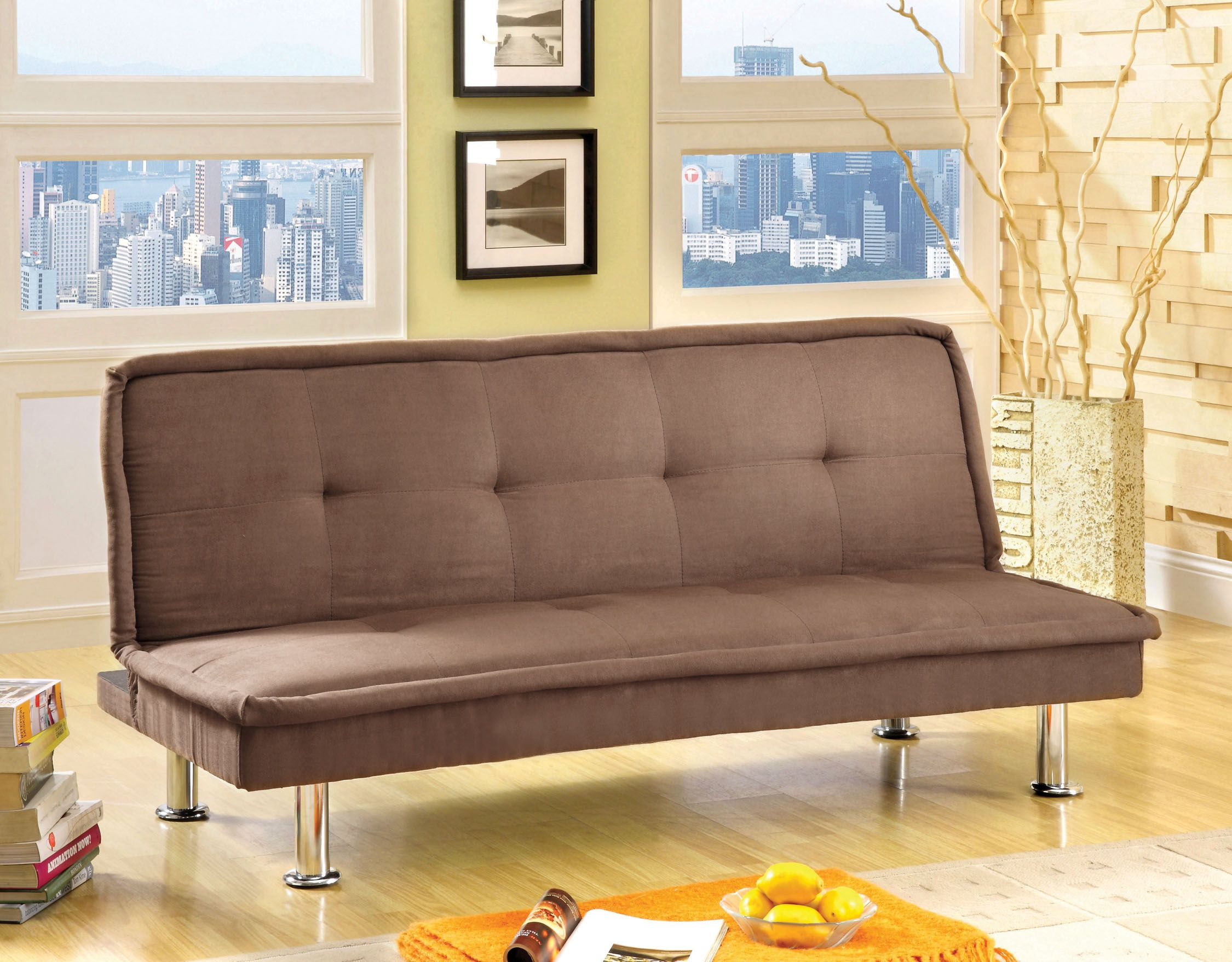 furniture of america adak padded microfiber futon sofa brown furniture of america adak padded microfiber futon sofa brown      rh   pinterest