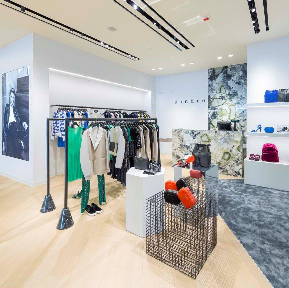 Lighting Retail Stores: Sandro Paris One Central Macau