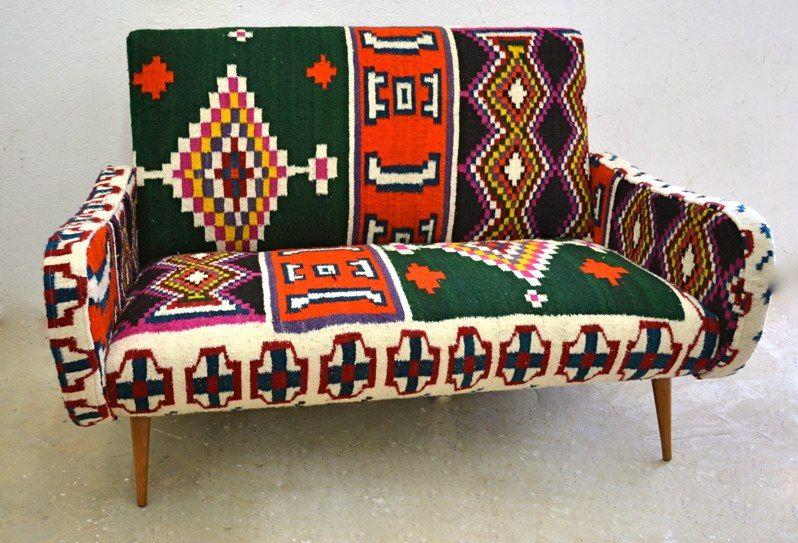 tabarka 2 places kilim vintage rock the kasbah philippe xerri furniture. Black Bedroom Furniture Sets. Home Design Ideas