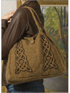Felted Cabled Bag Free Pdf Pattern Must Consider This In Dusty Blue