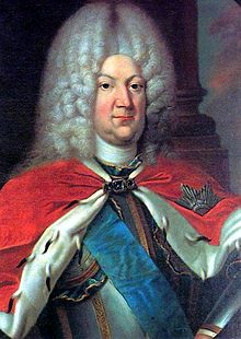 Karl Leopold of Mecklenburg-Schwerin, lived 1678–1747, Duke of Mecklenburg-Schwerin from 1713 to 1747.  Second son of Frederick, Duke of Mecklenburg-Grabow, and Christine von Hessen-Homburg. Succeeded his brother Frederick William, Duke of Mecklenburg-Schwerin, in 1713. His third wife was the Grand Duchess Catherine Ivanovna of Russia, daughter of Ivan V and Praskovia Saltykova. Father of Grand Duchess Anna Leopoldovna of Russia. Romanov-in-law.