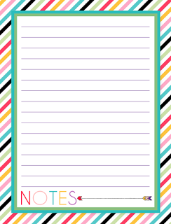 free printable notes pages - Free Picture Page