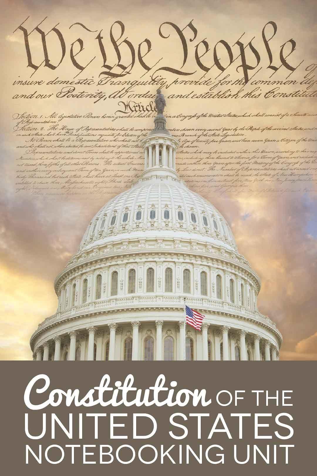 Us Constitution Unit Study In