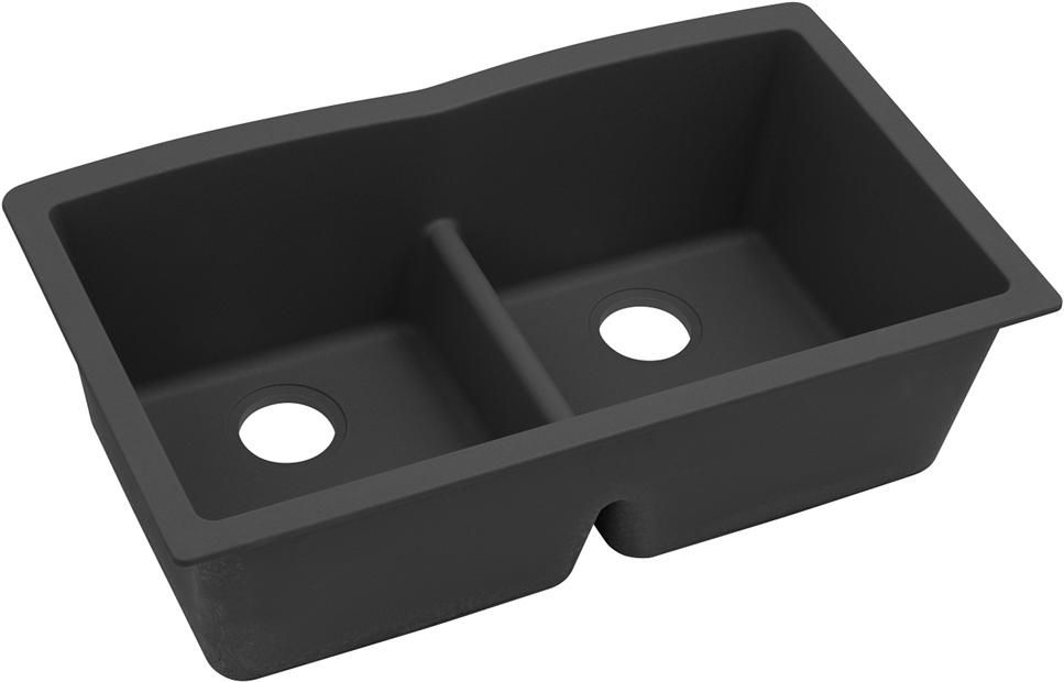 Elkay Quartz Classic 33 34 X 19 34 X 10 34 Equal Double Bowl Undermount Sink With A Double Bowl Undermount Sink Sink Double Bowl Undermount Kitchen Sink