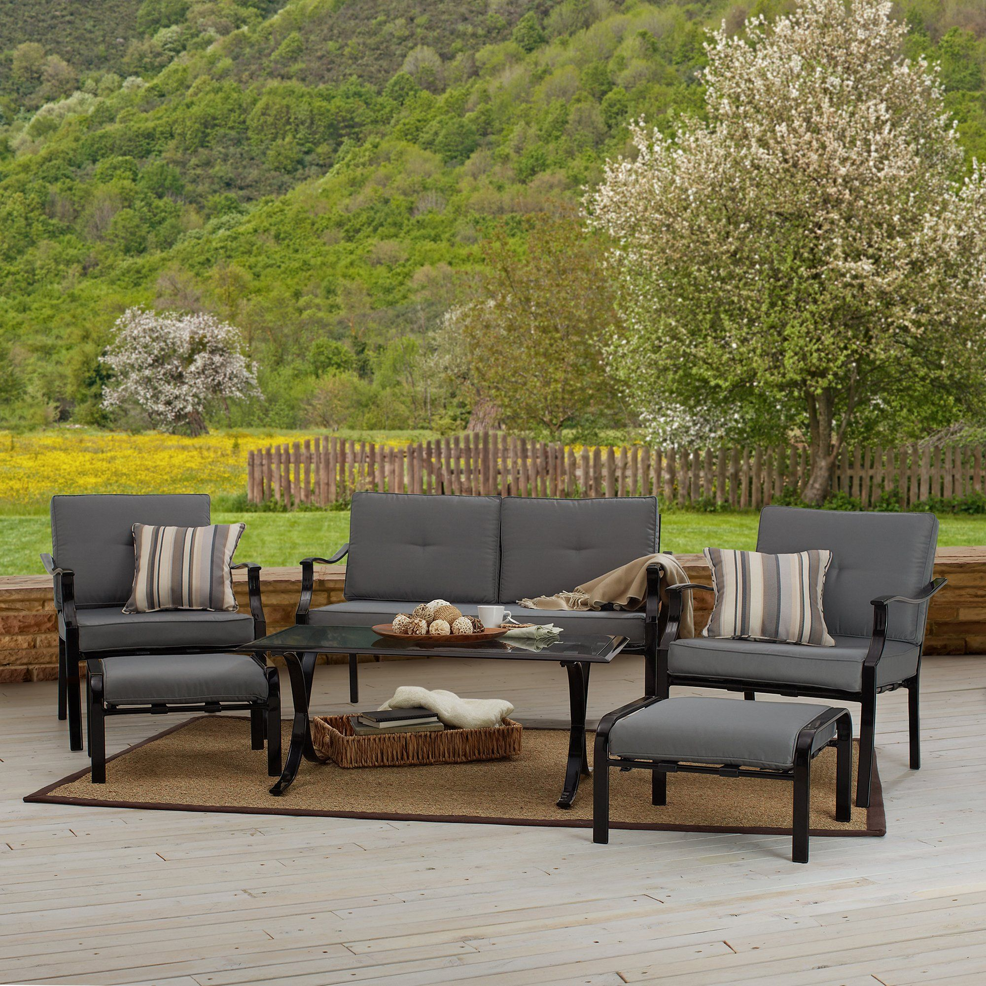 Amazon Com Strathwood 6 Piece All Weather Furniture Set Patio