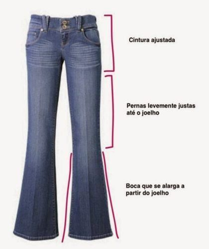 6c7c72fa1 molde e modelo calça flaire jeans feminina   Looks em 2019