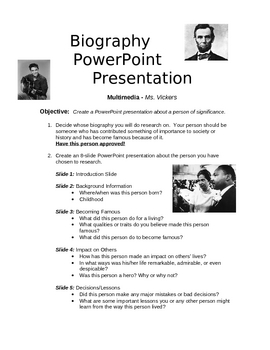 presentation biography - hola.klonec.co, Presentation Bio Template, Presentation templates