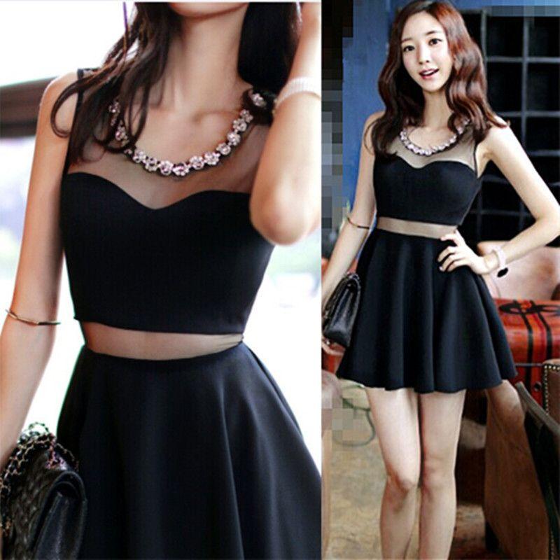 Perspective-Korean-fashion-dresses-2015-women-sexy-slim-waist-summer-A-line-dress-diamond-mesh-mosaic.jpg (800×800)