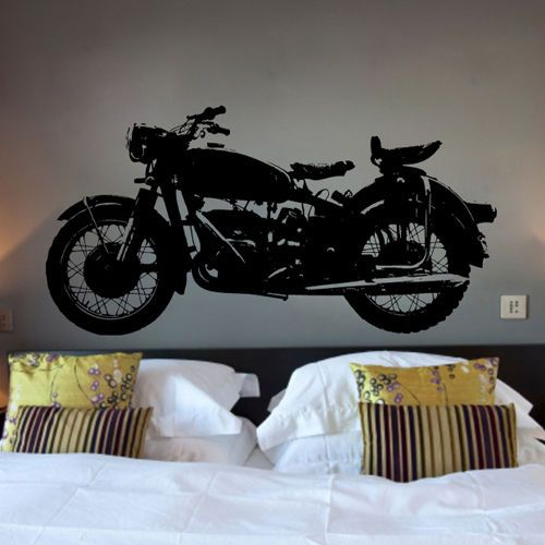 60x120cm Large Motorcycle Child Boy Room Sticker Motorbike Wall Decal Home Decor #Budgettank #Modern & 60x120cm Large Motorcycle Wall Decal Motorbike Sticker Bedroom ...
