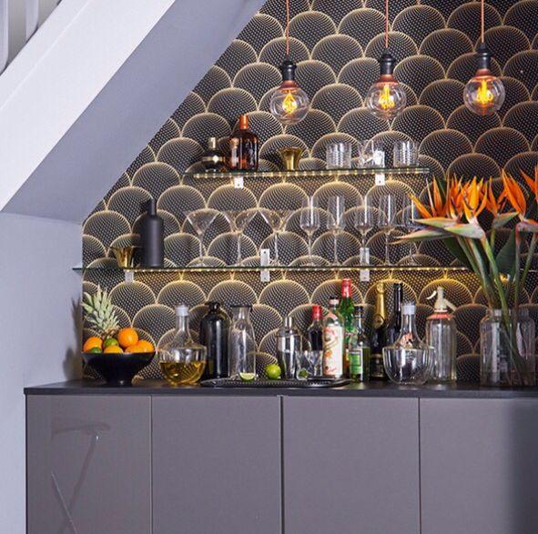 Home Wine Bar Design Ideas: Kitchen Under Stairs, Bar Under