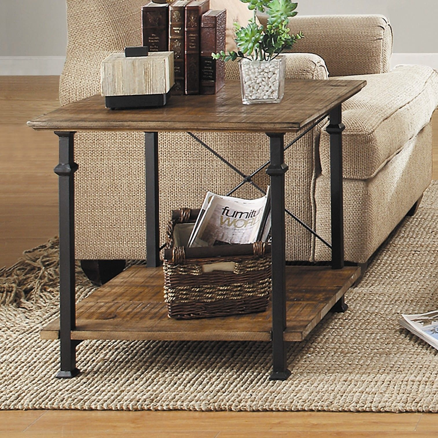 Oliver End Table 铁木 In 2019 Rustic End Tables Sofa