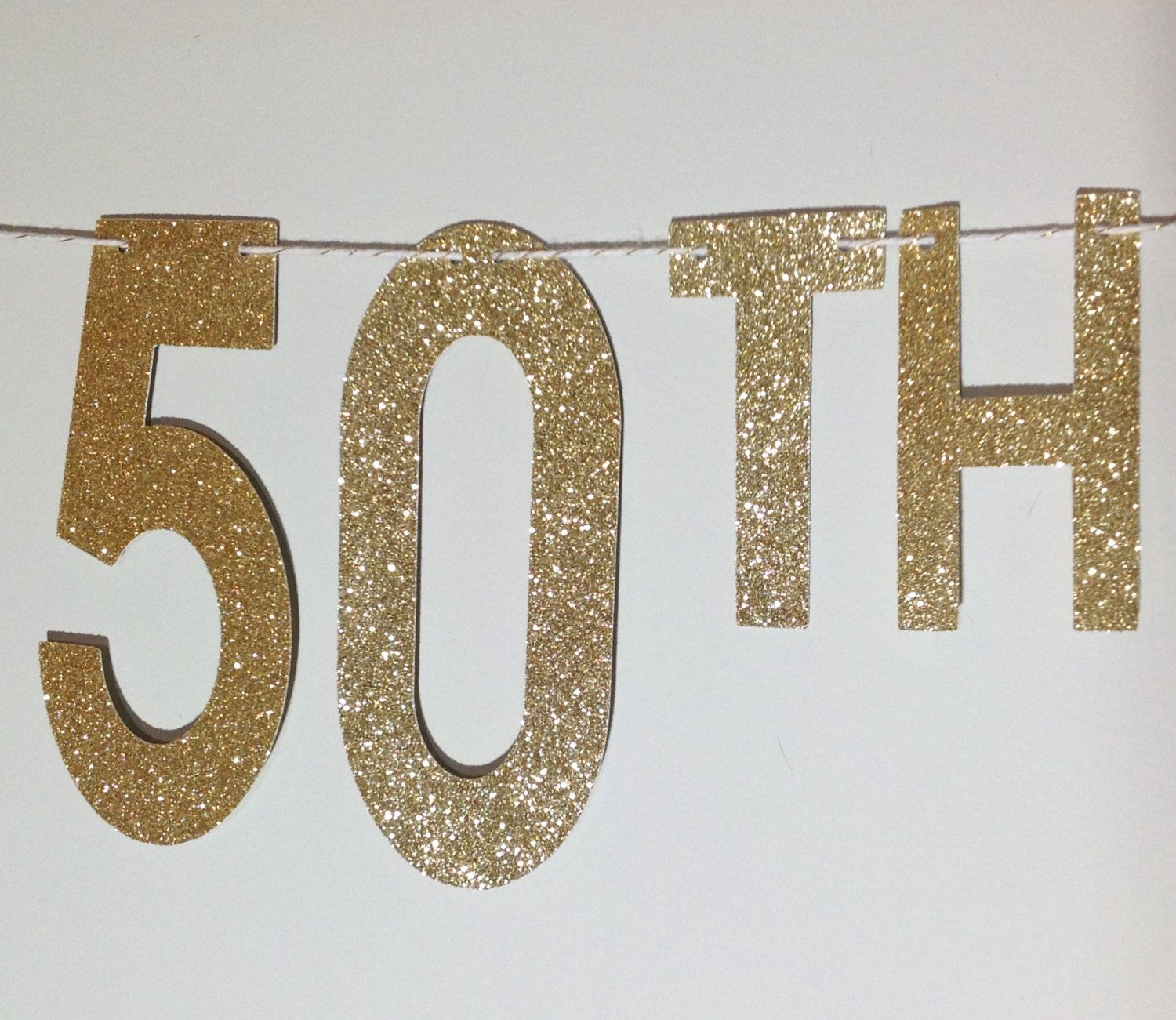 Fabulous At 50 Glitter Banner Birthday 50th Birthday Party Banner Decoration