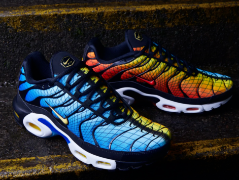 huge selection of 3671d f213f Details about Nike Air Max Plus Greedy Hyper Blue Shark ...