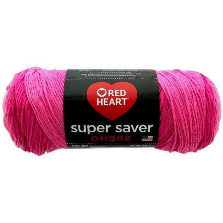 Red Heart Super Saver Ombre Yarn 10 oz SEA Coral
