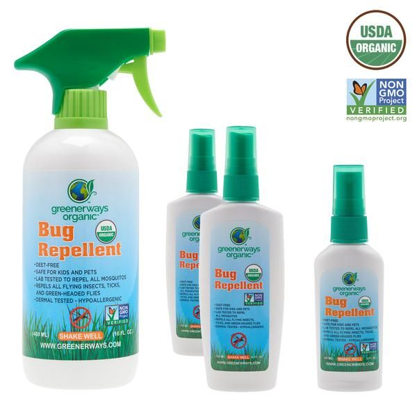 Shop Usda Organic Natural Insect Repellent Bug Spray 4 Pack Family