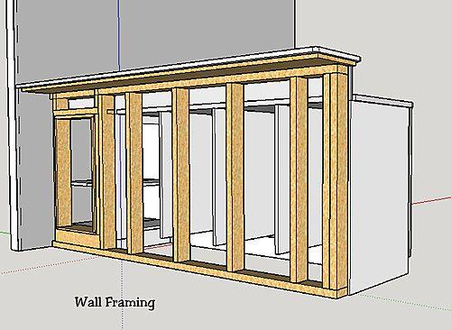 Bar framing: 2x4 or 2x6 framing?-wall-framing.jpg | Outdoor Kitchen ...