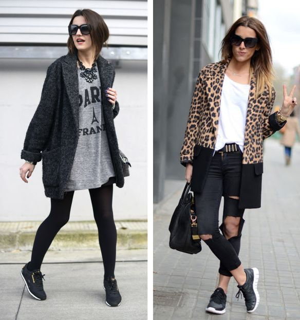 Ways To Wear: black sneakers | Fashion, Style, Dress with