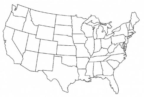 black white map of usa | latest printable america map | craft