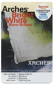 Arches Bright White Watercolor Paper Arches Watercolor Paper
