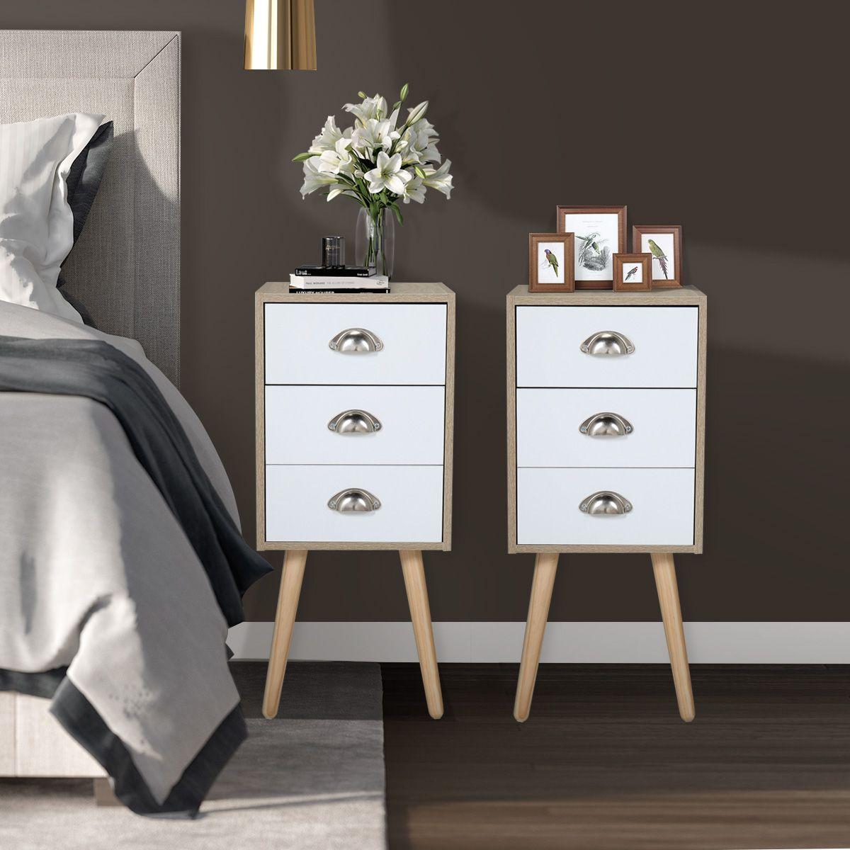 Set Of Two Bedside End Table For Bedroom For Sale Bedroom Night Stands Modern Bedside Table Style Nightstand Set of two night stands