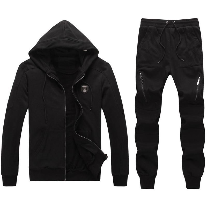 f979b9e95 Replica Philipp Plein PP fashion sports brand men clothing set male  sportswear tracksuit set jacket pants, include Crystal