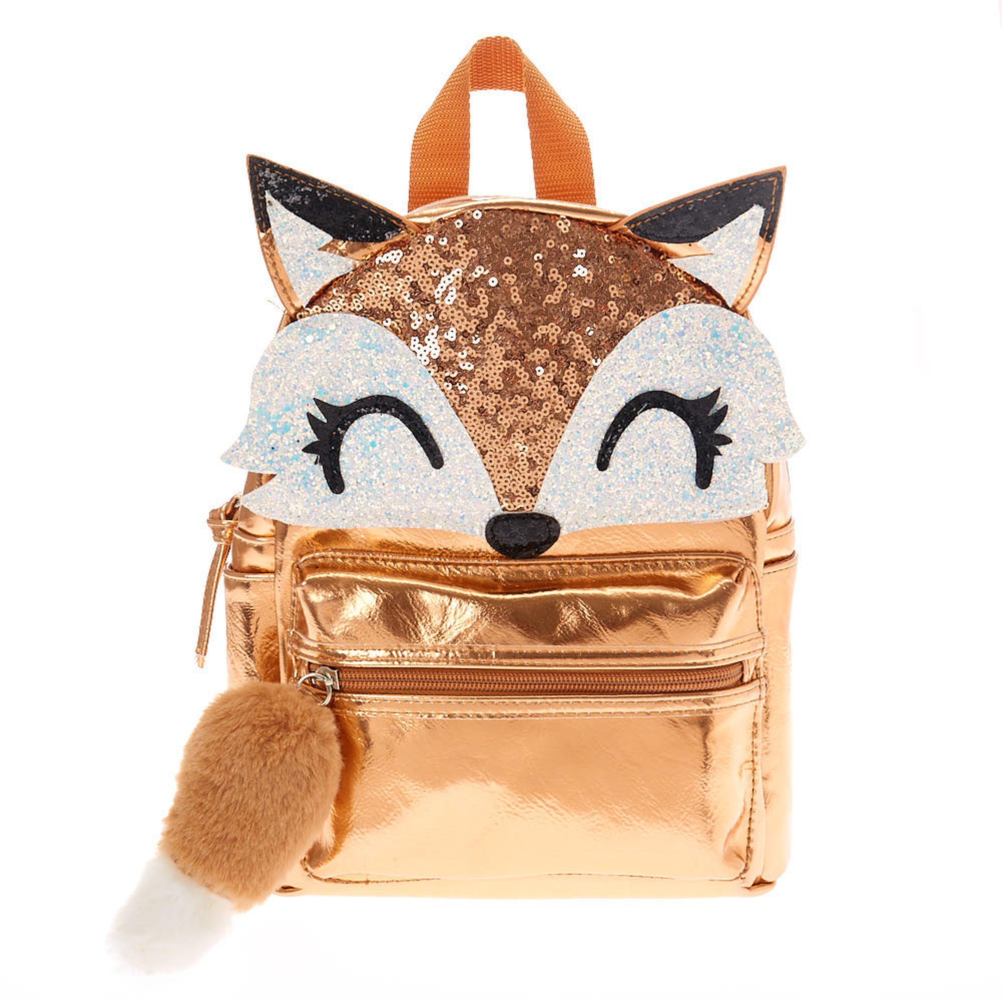 Farrah The Fox Metallic Backpack Rose Gold Metallic