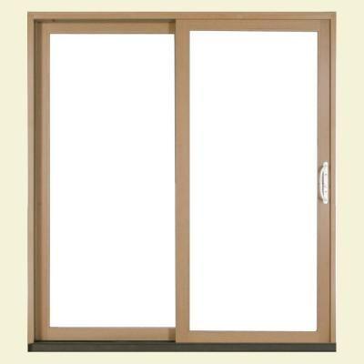Jeld Wen 72 In X 80 In W 2500 Brilliant White Wood Clad Left Hand Full Lite Sliding Patio Door W Unfinished Interior S37483 The Home Depot In 2020 Sliding Patio Doors Patio Doors Clad