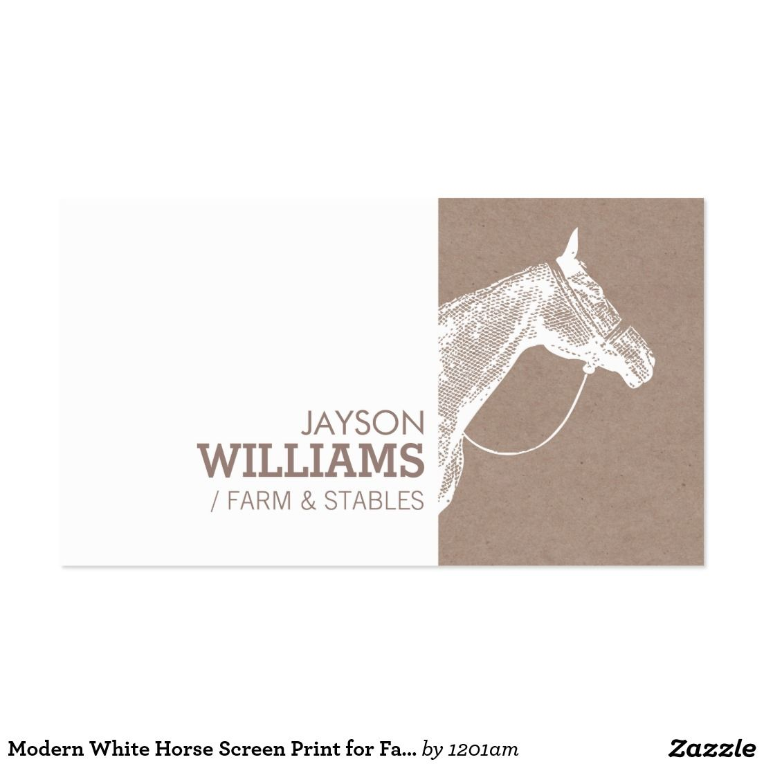 Create Your Own Profile Card Zazzle Com Printing Business Cards Horse Logo Design Screen Printing Business Cards