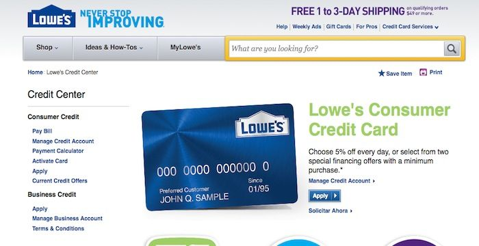 Lowes credit card login login archives pinterest lowes reheart Choice Image