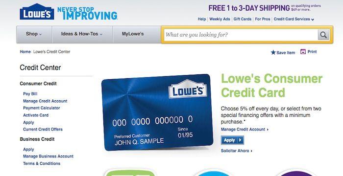 Lowes credit card login login archives pinterest lowes credit card login reheart Gallery