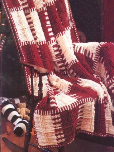 Plaid Afghan Yarn Free Knitting Patterns Crochet Patterns