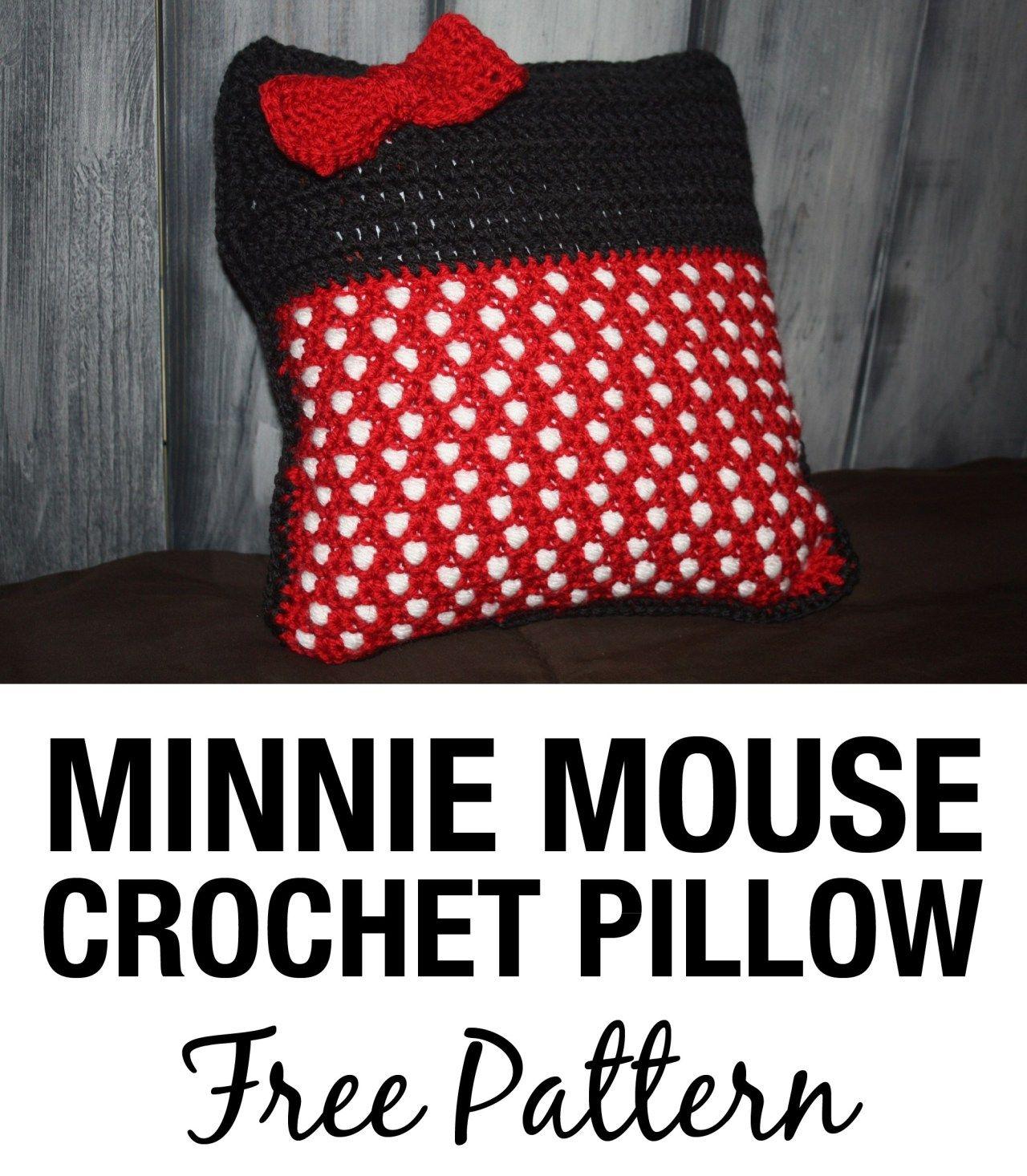 crochet throw pillow minnie mouse