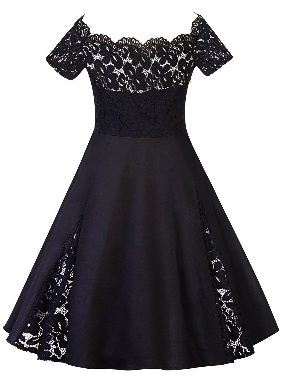 27 Little Black Dresses From Walmart You Need In Your Life Off Shoulder Lace Dress Short Sleeve Lace Dress Short Lace Dress [ 1320 x 990 Pixel ]