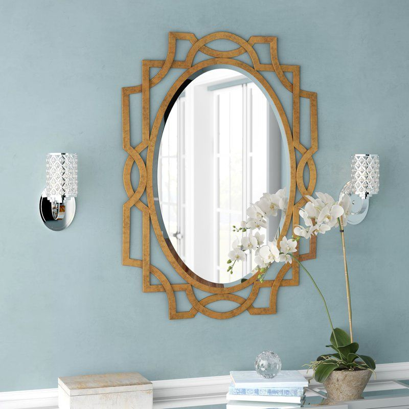 Gold Oval Accent Mirror Gold Accent Wall Luxurious Bedrooms Gold Bedroom