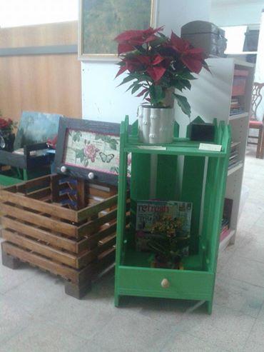 Floreira paletes e gaveta reciclada