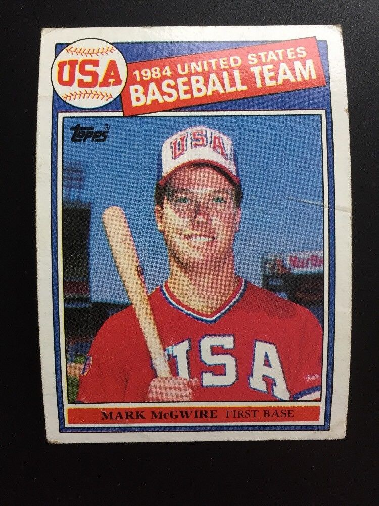 Details About 1985 Topps Mark Mcgwire Usa Olympics 401